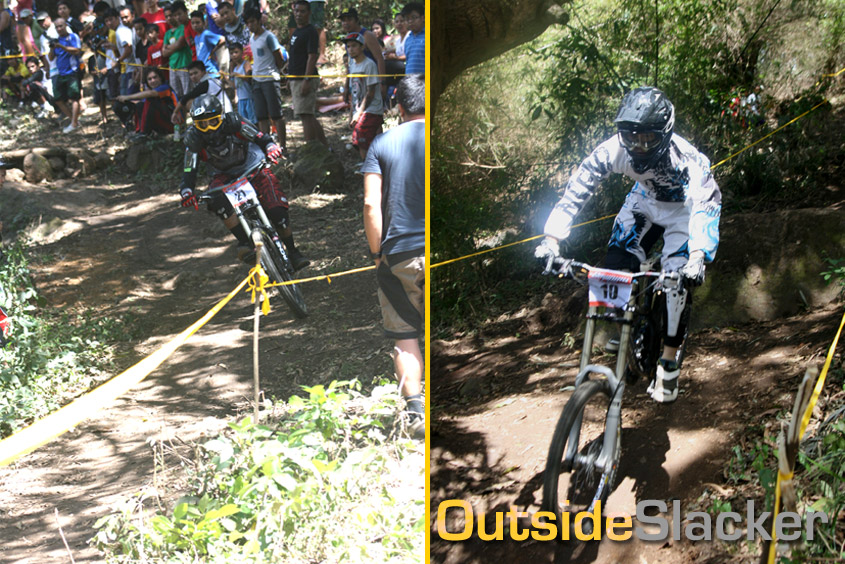 Downhill racers weave through twisting track