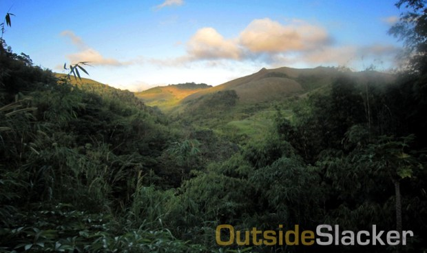 Dawn breaks over the Sierra Madre mountains in Tanay, Rizal during the Love a Tree Ultramarathon