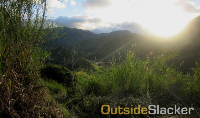 The sun begins to rise over the Sierra Madre mountains in Tanay during the Love a Tree Ultramarathon