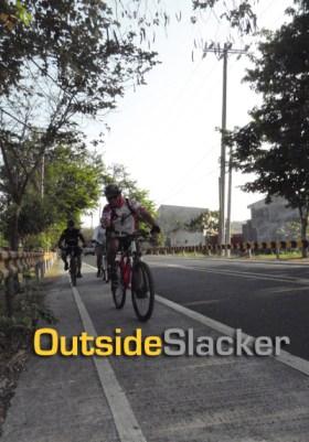 Biking through the Morong Highway