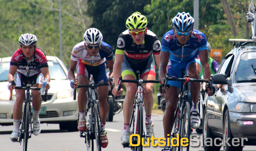 Four man breakaway group at Stage 2 of Le Tour de Filipinas 2013