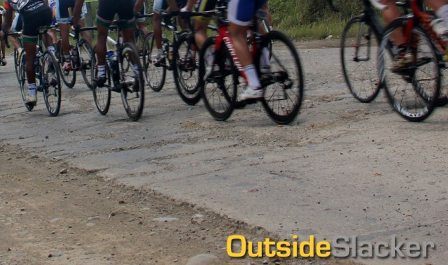 Bad roads at Le Tour de Filipinas 2013