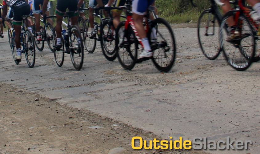 Bad roads at Le Tour de Filipinas 2013