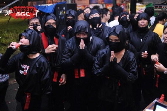 Ninjas vs zombies at Outbreak Manila BGC 2012