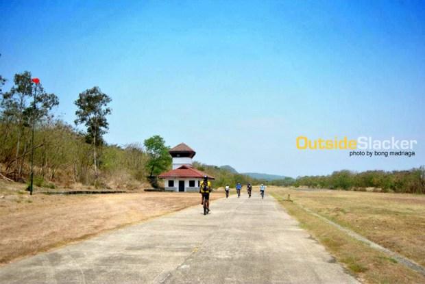 Biking in Corregidor's airfield