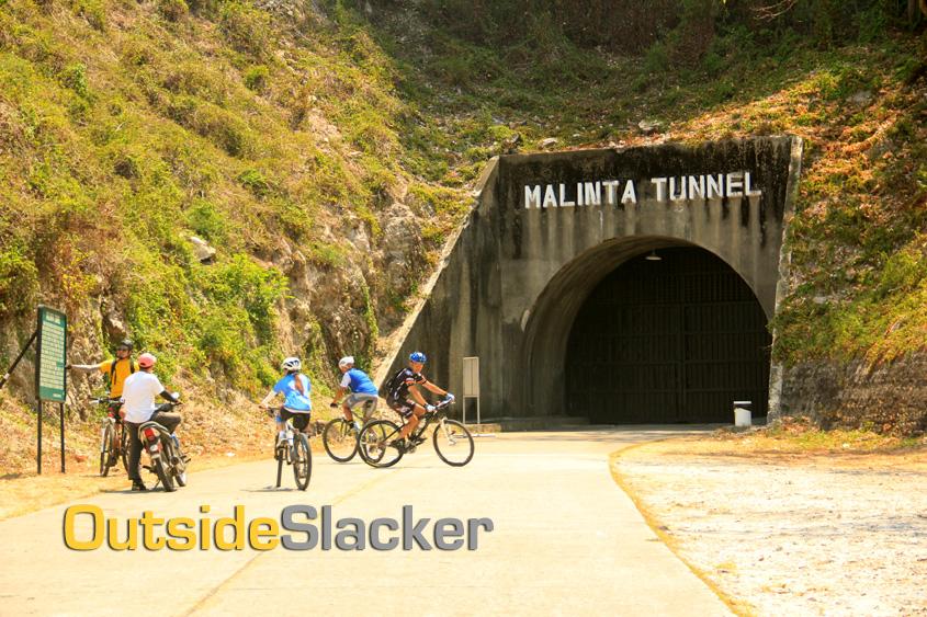Biking in Corregidor's Malinta Tunnel