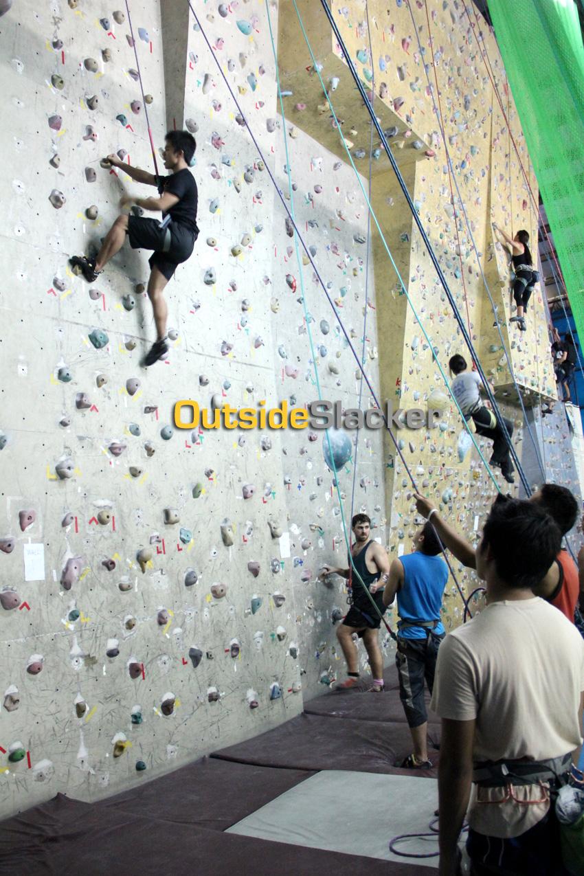 Wall Climbing in Cubao