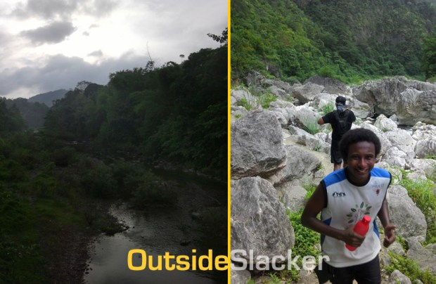 Trail Runner in Daraitan during Nature's Trail Discovery Run 2013 (Leg 1)