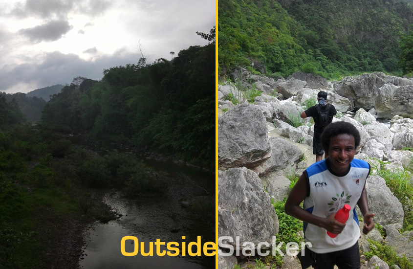 Trail Runner in Daraitan during Nature's Trail Discovery Run 2013 (Leg 1)