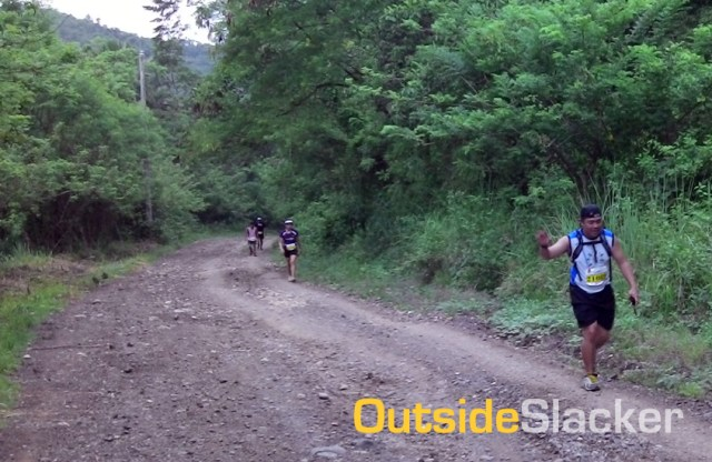Runners on the long downhill to Daraitan in Nature's Trail Discovery Run 2013 (Leg 1)