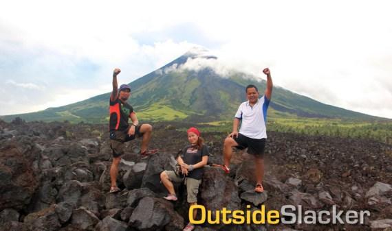 Bikers at Mayon's Lava Wall
