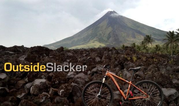 Mountain Bike on Mayon's Lava Wall