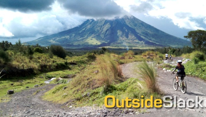 Biking at Mayon