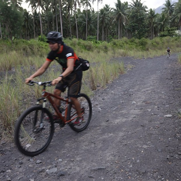 Mayon Bikers Going Downhill