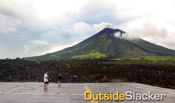 Helipad on Mayon's Lava Wall