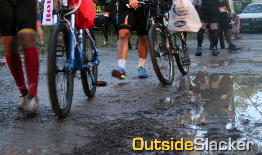 Muddy race course at the 2013 la Mesa Offroad Duathlon