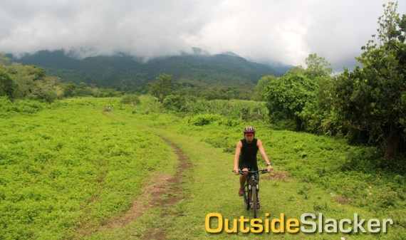 Biking at Mt. Isarog