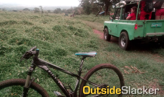 Biking at Mt. Isarog