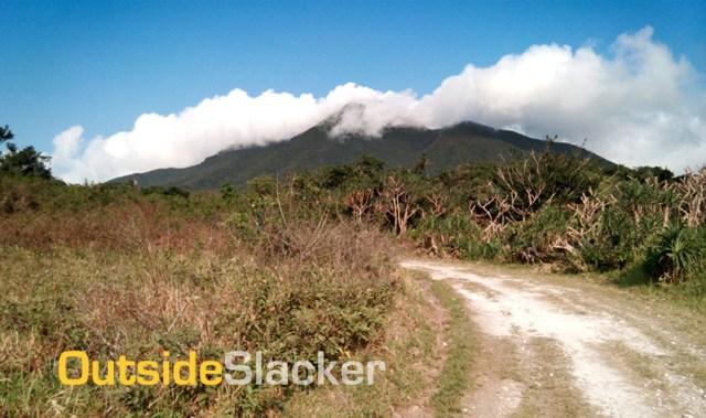 Road going up Mt. Iraya, Batanes