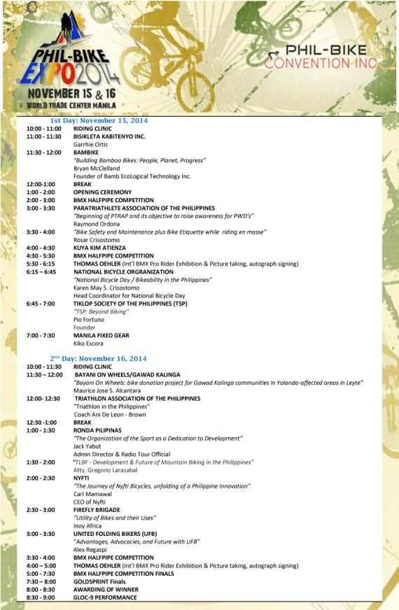 Phil-Bike-Expo-Schedule