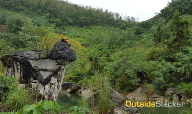 Biking to Laiban Dam