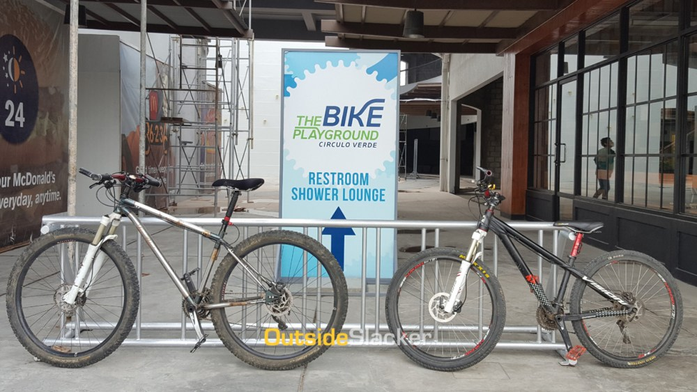 Pump track at The Bike Playground