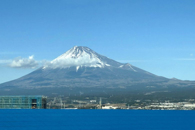 View of Mt Fuji from the bullet train