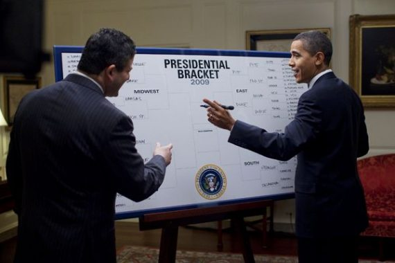 Image result for barack obama fills out bracket