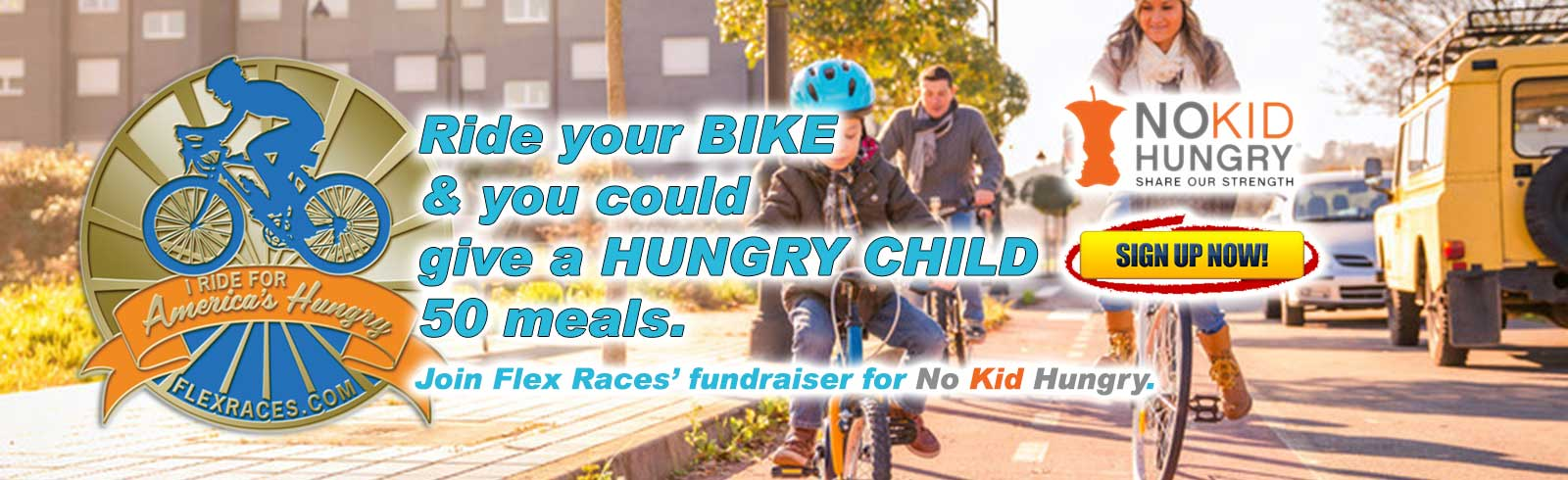 Ride your bike and feed America's kids