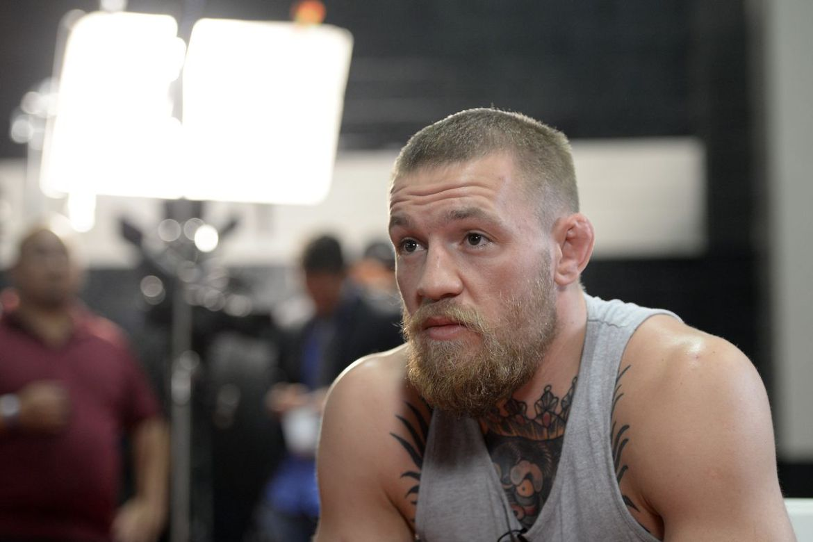 Conor McGregor long and shaped beard