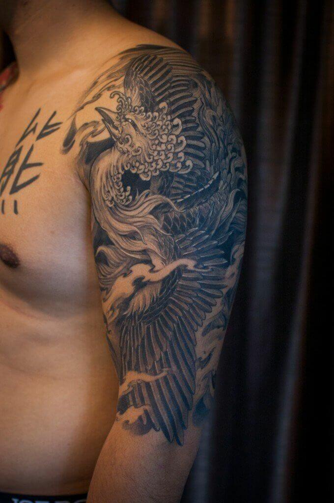 Full Sleeve Phoenix Tattoo