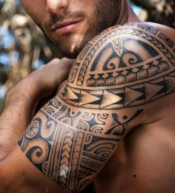 e203da327 Half Polynesian Sleeve. Tribal Shoulder Sleeve