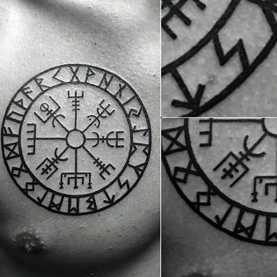 Aztec Compass Tattoo