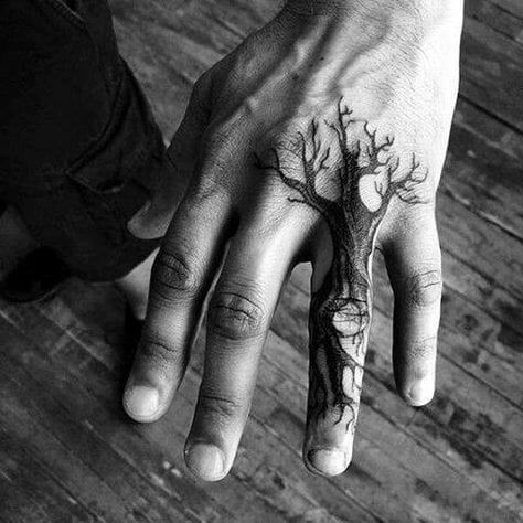 Tree Hand Tattoos