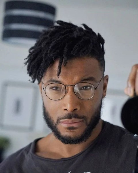 Short Hair Dreads With Glasses