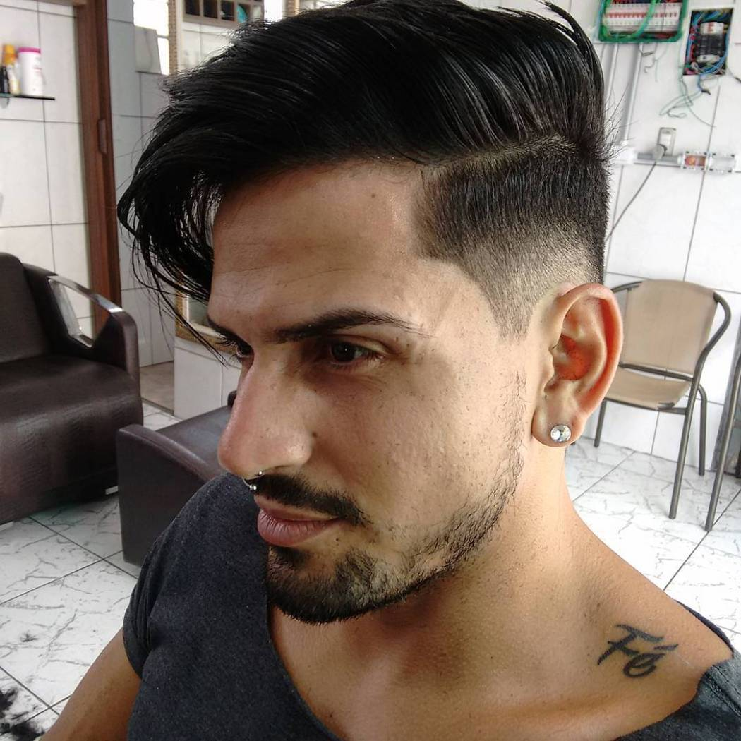 Combover with low fade