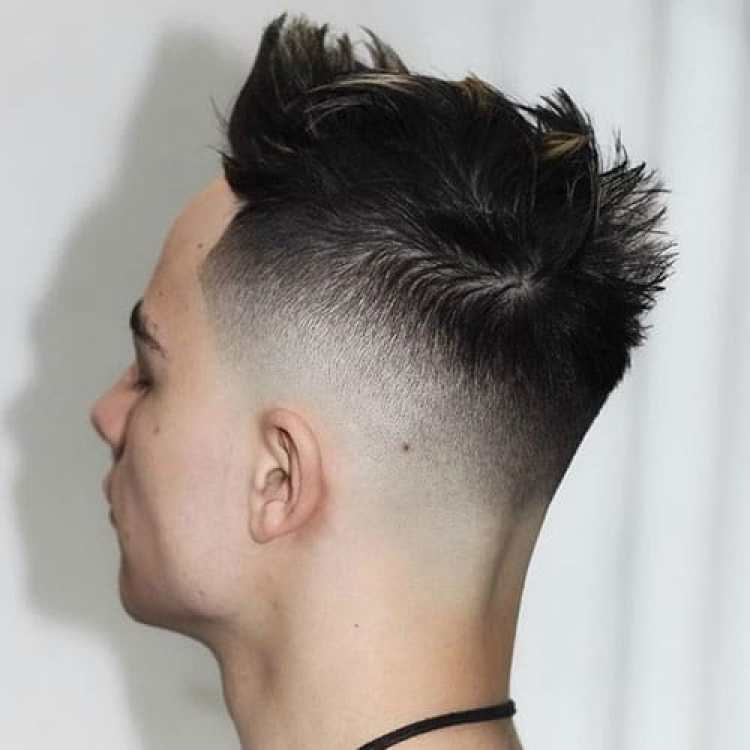 Man with High Skin Fade with Quiff
