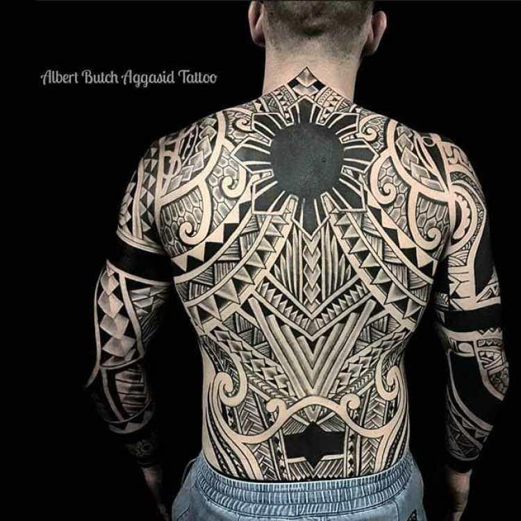 Full Back Tribal Tattoo