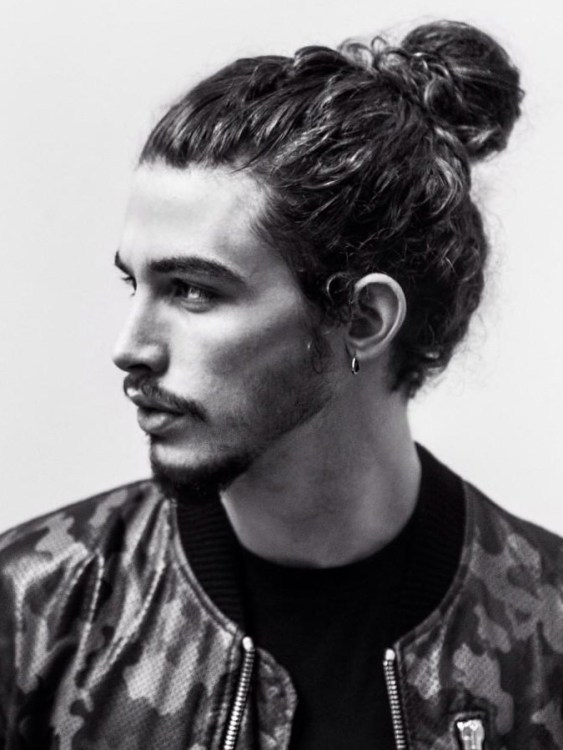 Man with Man Bun and beard