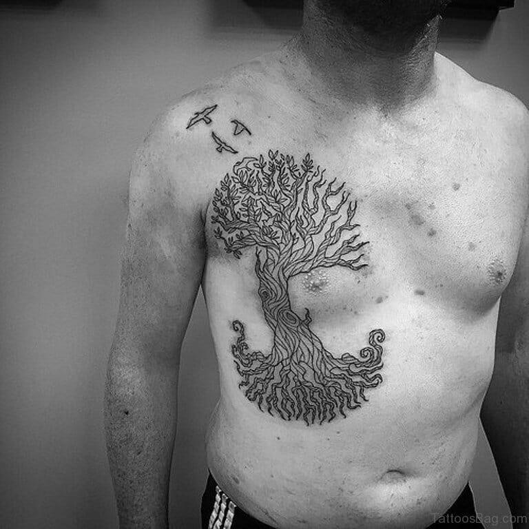 Outline Tree Tattoo