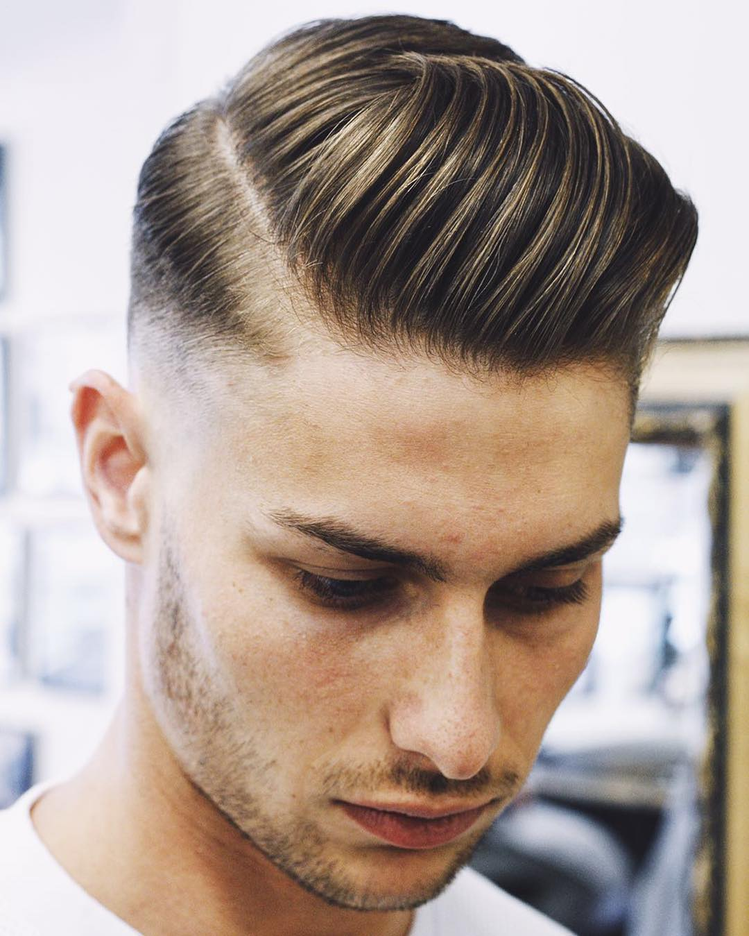Slicked Side Parting