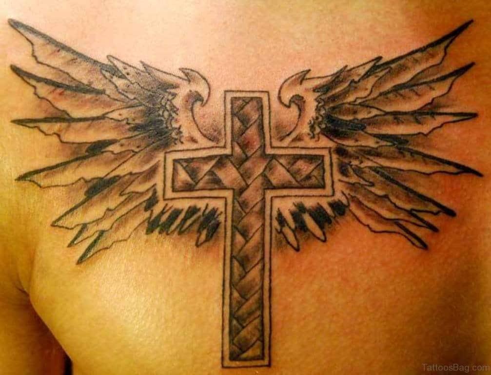 Winged Cross Tattoo