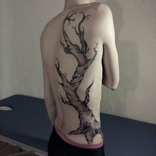 Oak Tree Back Tattoo
