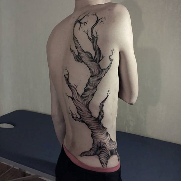 Oak Tree Back Tattoo
