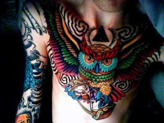 Awesome Mens Owl Tattoo