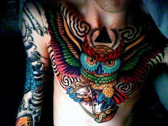 Awesome Mens Owl Tattoo