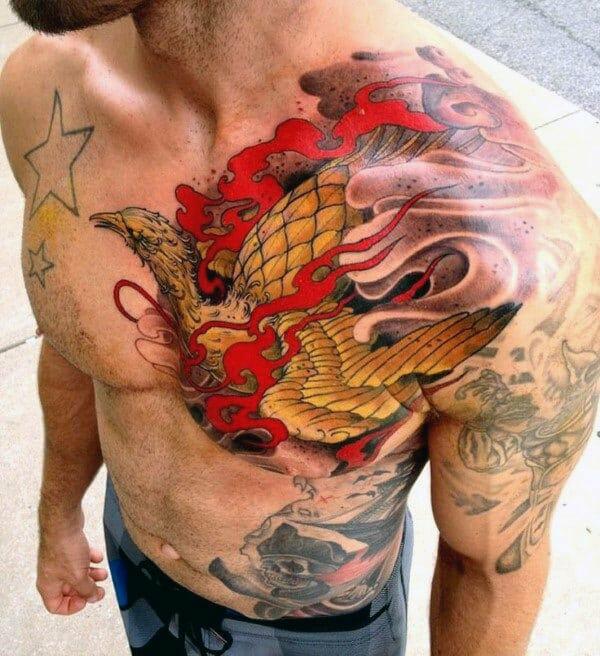 Amazing Mens Chest Tattoo