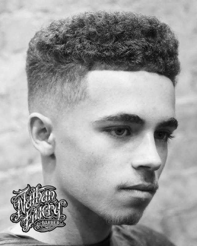 Curly Flat Top Haircut