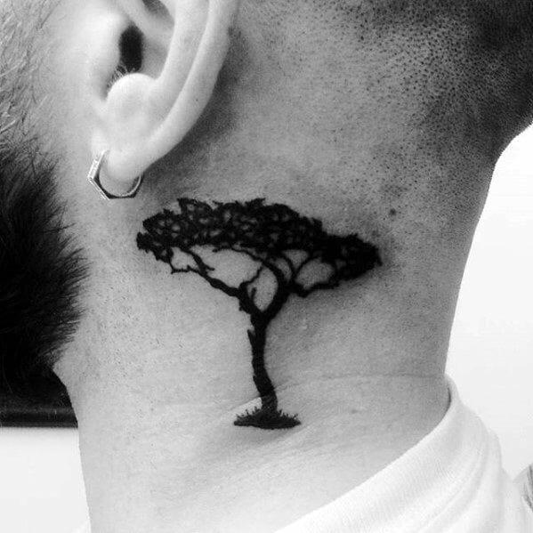 Cool Neck Tree Tattoo
