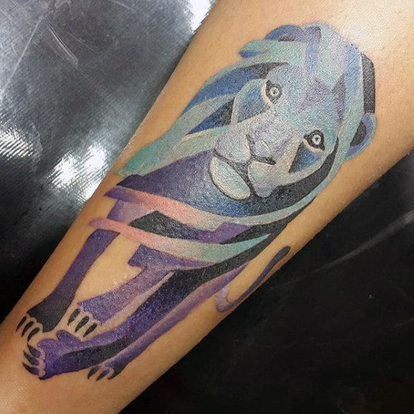Modern Lion Tattoo